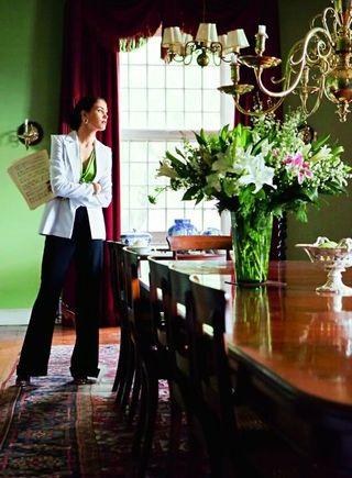 Burda Green Dining Room