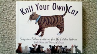 Knitted cat book